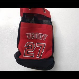 LOS ANGELES ANGELS MIKE TROUT cooler backpack *NEW
